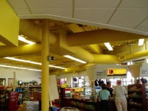 sarı renkli yuvarlak hava kanalı